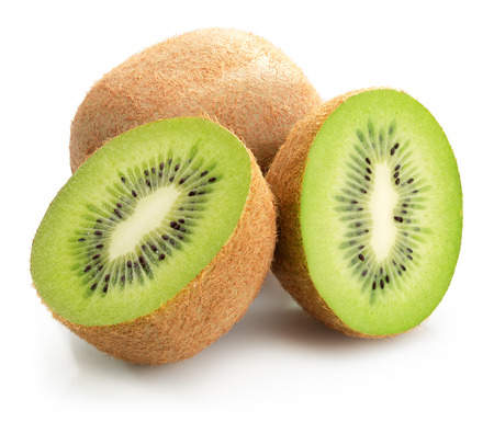 tasty kiwis isolated on the white background.