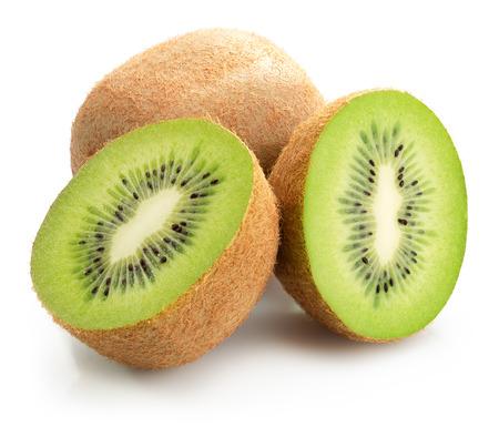 kiwi: tasty kiwis isolated on the white background.