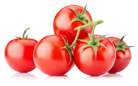 tomatoes isolated on the white background.