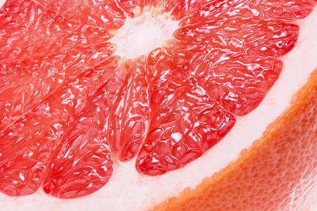 close up of juicy grapefruit.