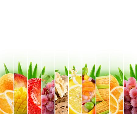 limón: Arco iris de colores c�tricos colecci�n de la raya en el fondo blanco.