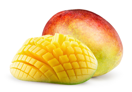 mango: mangoes isolated on the white background.