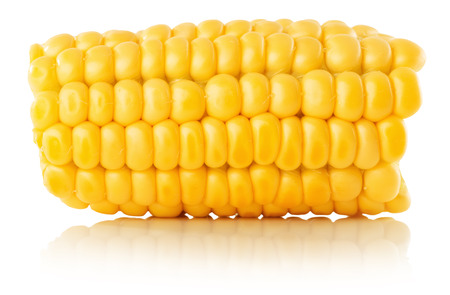 green vegetables: fresh corn isolated on the white background.