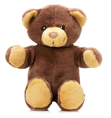 juguetes: oso de juguete aislado en el fondo blanco.