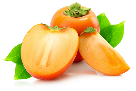 persimmons isolated on the white background.