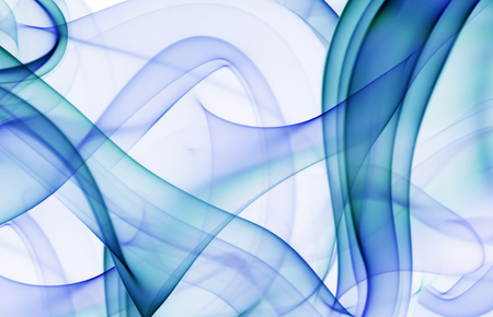blue circle: abstraction with blue and cyan smoke. Stock Photo
