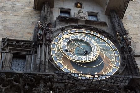 astronomical: astronomical clock on Prague square.