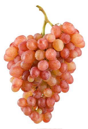 pink grapes isolated on the white background. Stock Photo