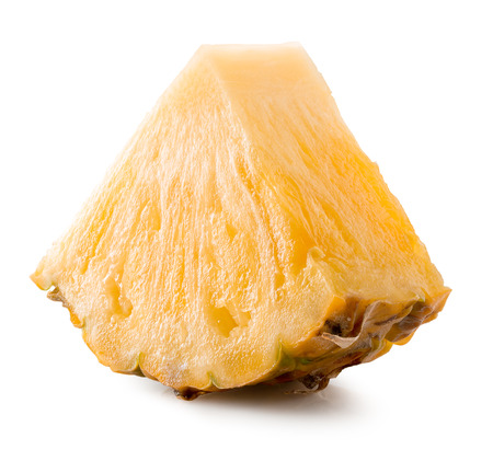 pineapple slice: pineapple slice isolated on the white background.
