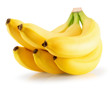 bananas isolated on a white background.