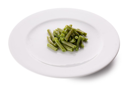 haricot: green bean haricot on a plate.