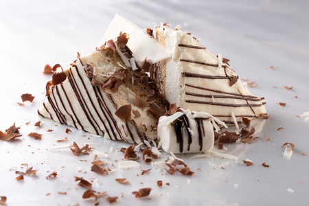 patisserie: cake with white chocolate.