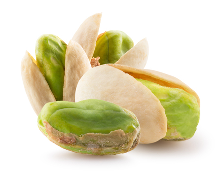 pistachios isolated on a white background. Reklamní fotografie