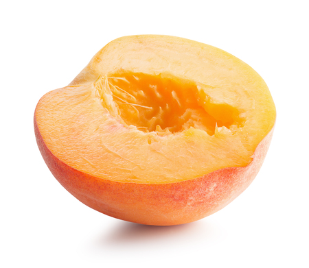 half of  apricot isolated on a white background. Stock Photo