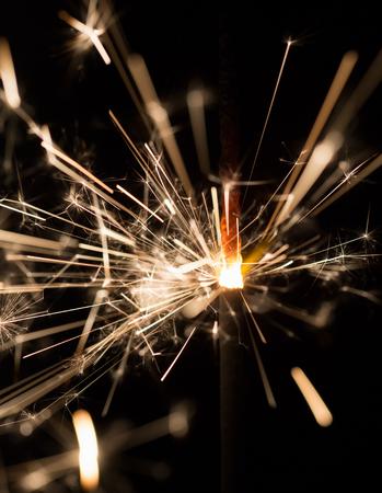 sparkler on a black background. 版權商用圖片
