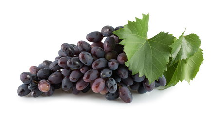 purple grapes isolated on a white background.