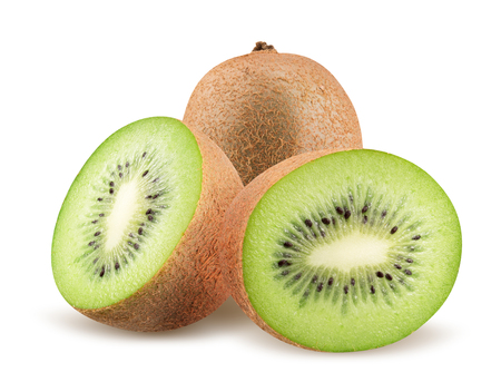 kiwi isolated on a white background.