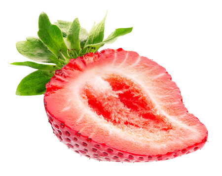 half of strawberry isolated on a white background. 写真素材