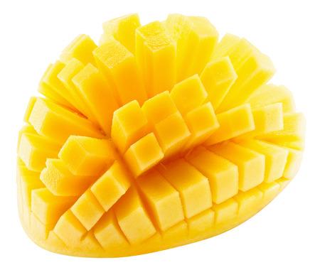mango slices isolated on a white background. Imagens