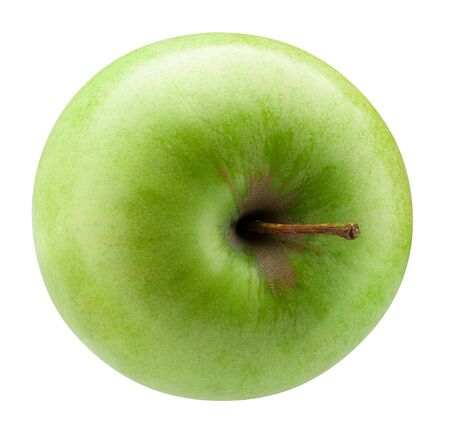 green apple isolated on a white background. Reklamní fotografie - 129862930