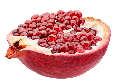 half of pomegranate isolated on a white background. Reklamní fotografie