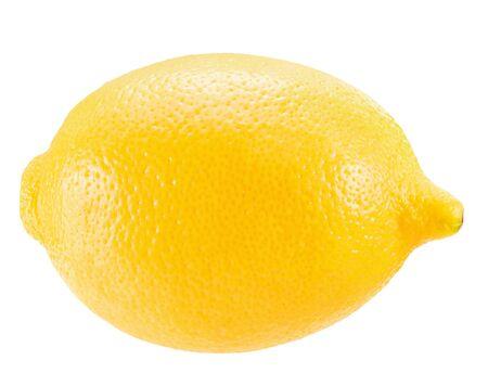 Zitrone lokalisiert auf einem weißen Hintergrund. Standard-Bild