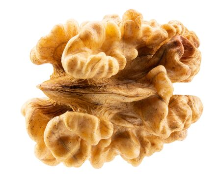 walnut without shell isolated on a white background.
