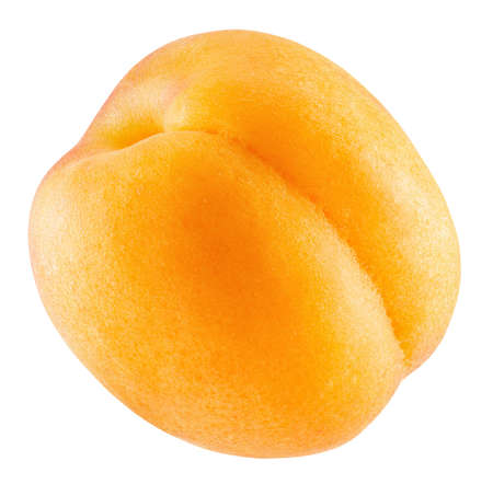 apricot isolated on a white background. Imagens