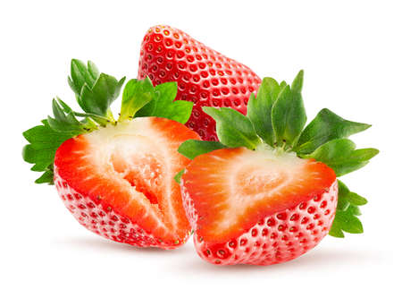 strawberries isolated on a white background. Standard-Bild