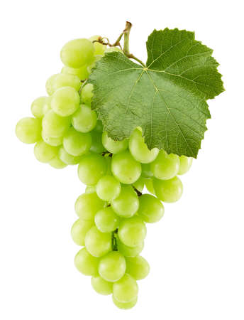 green grapes isolated on a white background.
