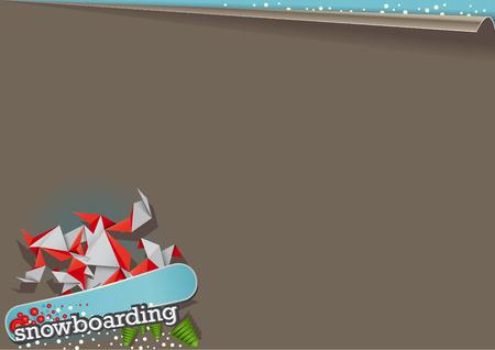 snowboarding: Background snowboarding Illustration