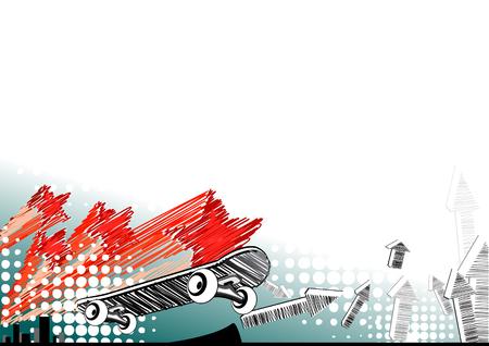 Skateboard background Illustration