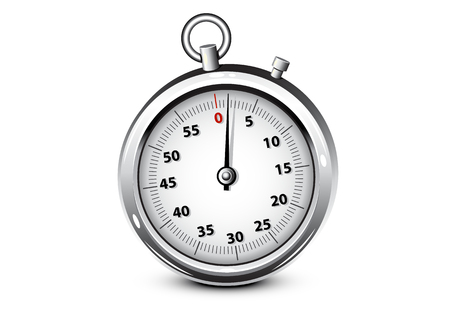 Chronomètre en argent réaliste