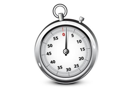 Cronómetro plateado realista