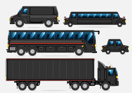 black transport collection Ilustrace