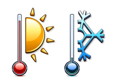 Two thermometers Ilustração