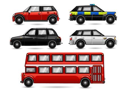 England vehicles Vektorové ilustrace