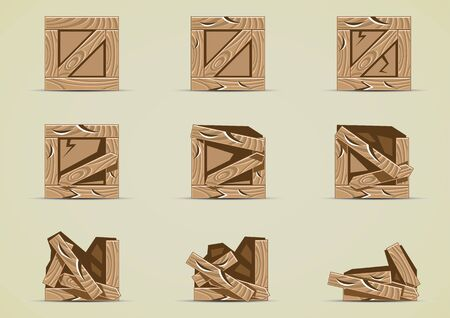 Broken brown box