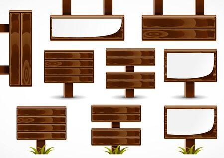 Wooden boards Illusztráció