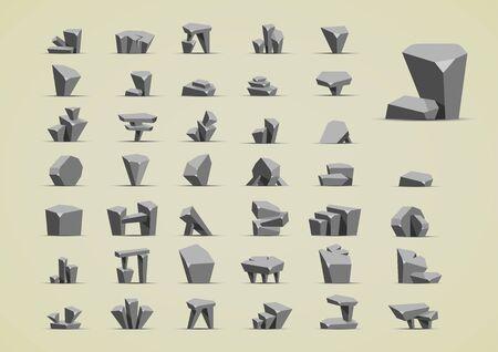 Simple cartoony stones Ilustracja