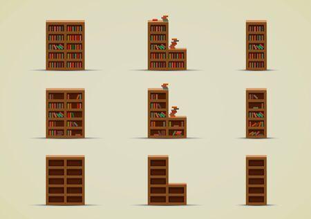 Wardrobes for books Ilustracja