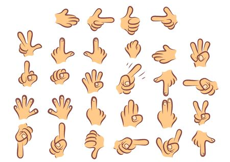 Cartoony colored hands