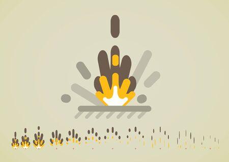 Dynamite explosion effect for video games Ilustração