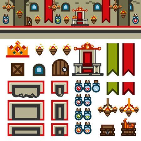 Inside castle flat game level kit