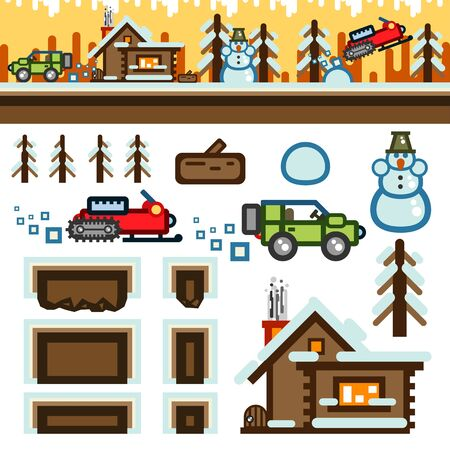 Winter flat game level kit