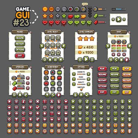 Game GUI #23 Ilustración de vector