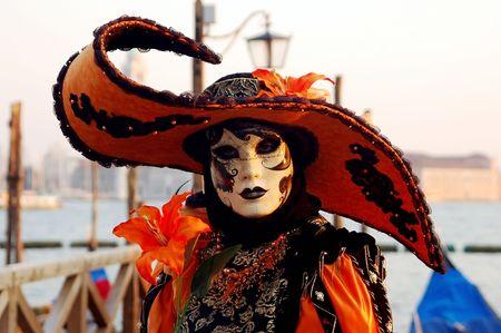 Portrait schön Karnavale Masken in Venedig, Italien