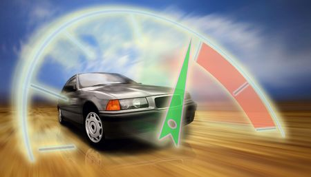sportcar: Beautiful speed silver sportcar on the road