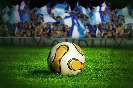 Ball on the field of stadium Stock Photo - 7772261