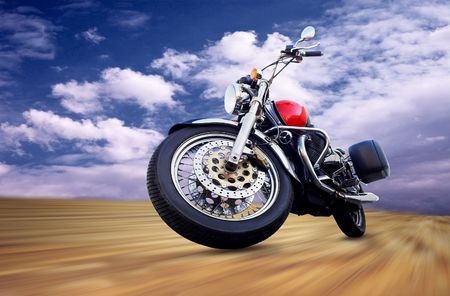 Motorcycle on the sky Stock Photo - 7928002